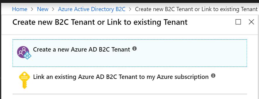 Creating a tenant